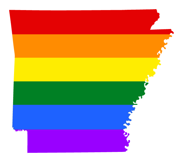 Arkansas rainbow flag