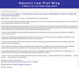 Adjunct Law Prof Blog