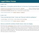 Legal Ethics Forum
