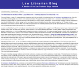 Law Librarian Blog