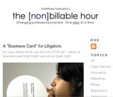 The [Non]billable Hour