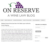 On Reserve: A Wine Law Blog