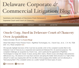 Delaware Corporate and Commercial Litigation Blog
