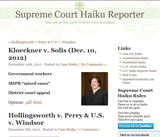 Supreme Court Haiku Reporter