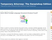 Temporary Attorney: The Sweatshop Edition
