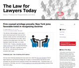 The Law for Lawyers Today