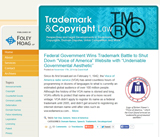 Trademark & Copyright Law