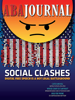 April 2019 cover: Social Clashes.