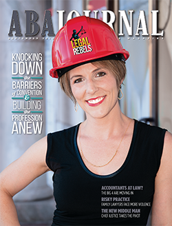 September 2018 cover, woman wearing hardhat.
