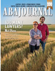 October 2014 ABA Journal Magazine Cover of Couple on a Farm