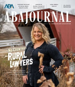 ABA Journal February-March 2020: No Country for Rural Lawyers