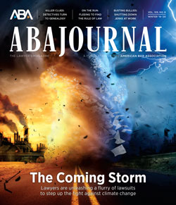 ABA Journal Winter 2019-2020: The Coming Storm