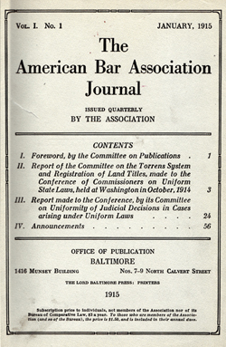 First ABA Journal Cover