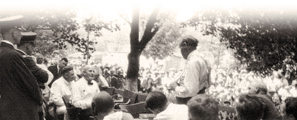 The Scopes trial was held outside
