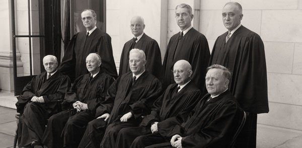 The Warren Court, seated.