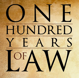 One Hundred Years of Law logo