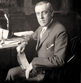 President Wilson at his desk