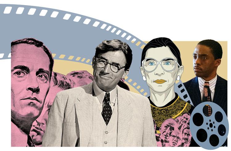 Film stills and Ruth Bader Ginsburg