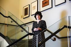 Maura Grossman on a stairway