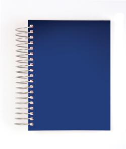 Blue spiral bound notebook