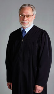 Robert Hyatt in judge's robe