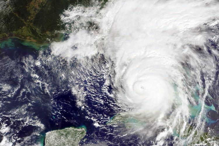 Hurricane sattelite view