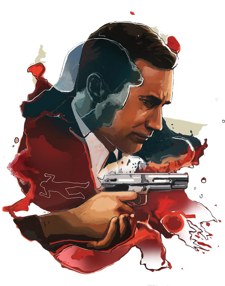 Illustraton of man with a gun