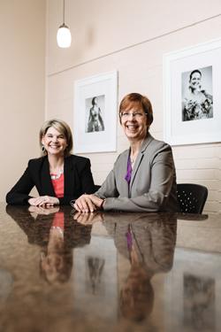 portrait of Jennifer Rangel and Hilary Hughes
