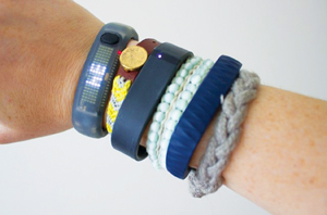 arm with several bracelets