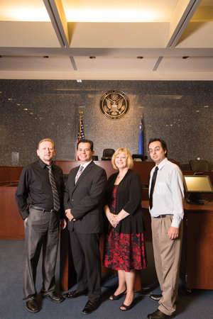 4 members of the federal court team