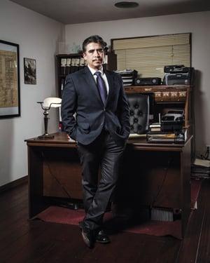 Chris Ochoa in the office