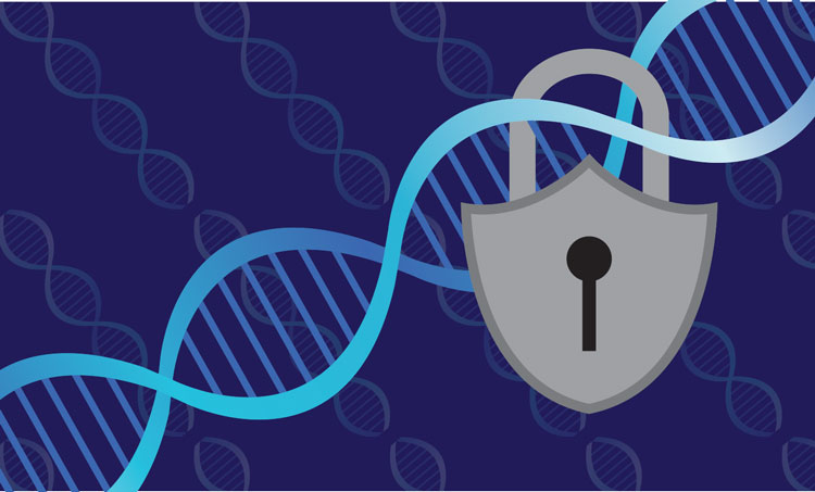 Locked DNA Illustration by Sara Wadford/ABA Journal