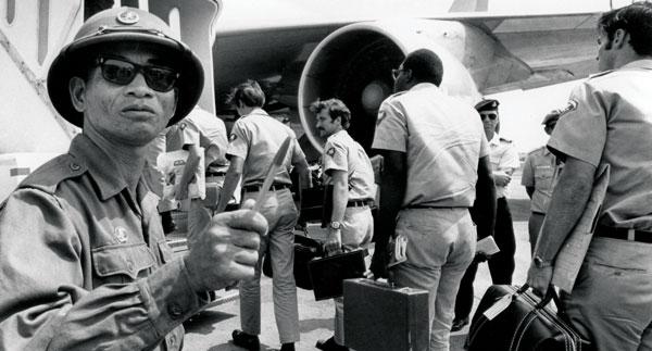 American troops leaving Vietnam