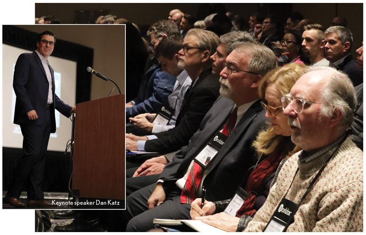 Techshow Attendees and Keynote speaker