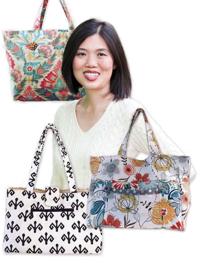 Jeena Cho and handmade bags