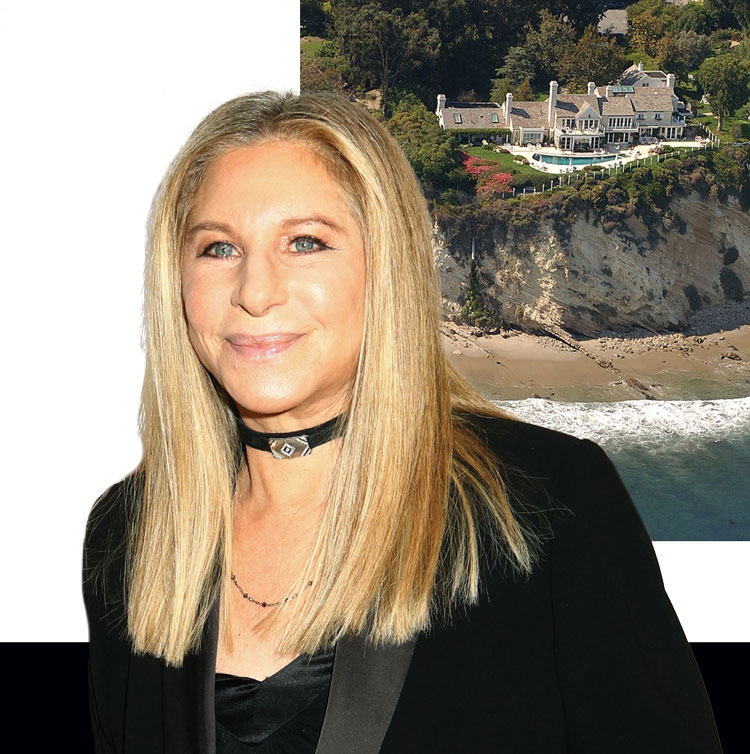 Barbara Streisand and her Malibu Home