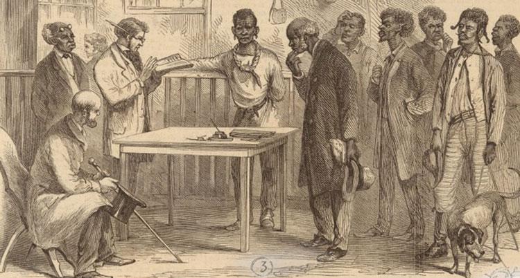 illustration of voter registration