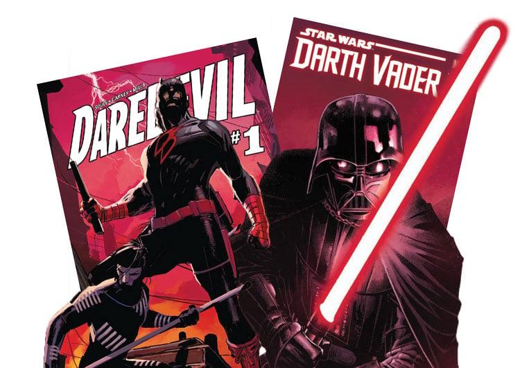 Daredevil and Darth Vader comics