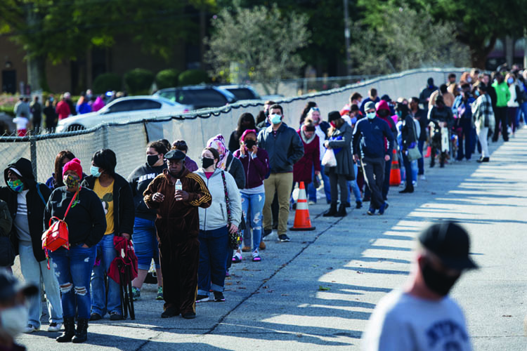 long lines to vote