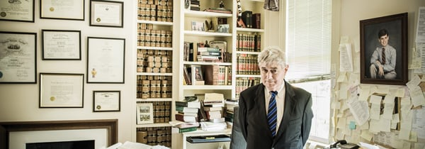 John Long in his office