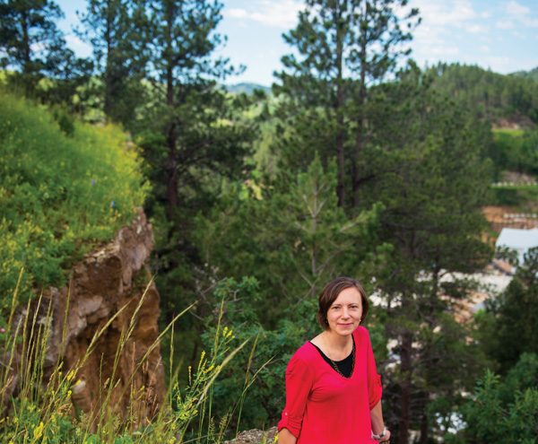 Francy Foral in the forest of South Dakota