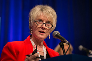 Ruth McGregor speaks at the 2014 ABA Annual Meeting.