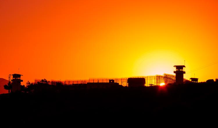 prison at sunrise