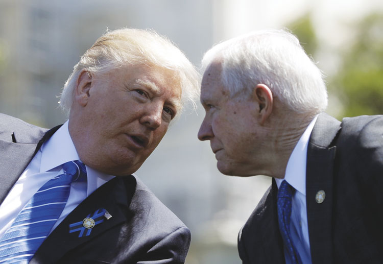 trump talking with sessions