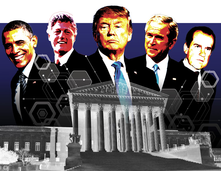 several presidents standing in front of supreme court