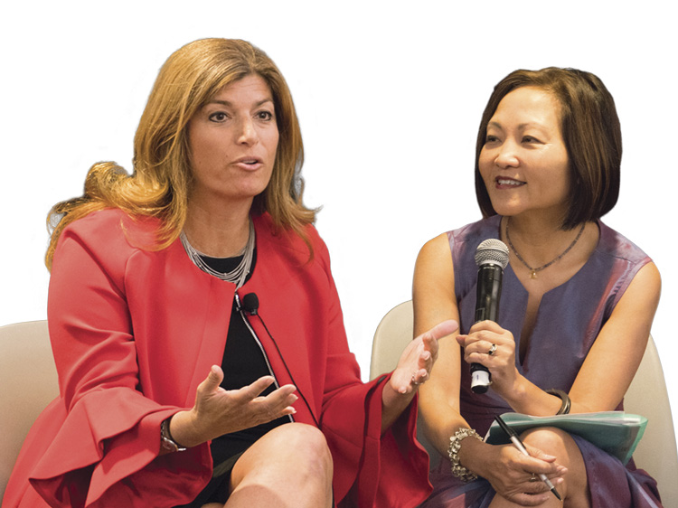 female panelists talking