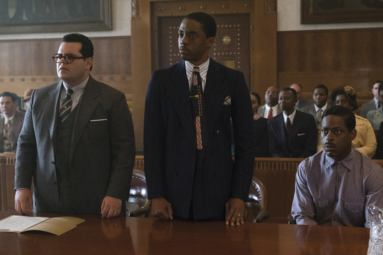 three men in a courtroom