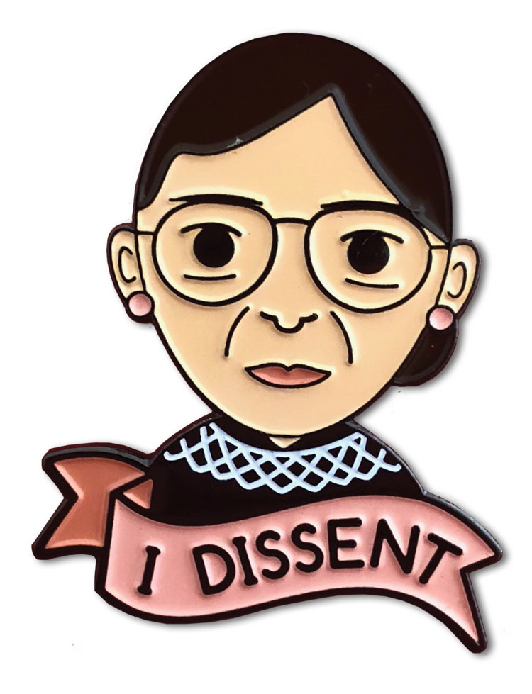 I Dissent pin available on Etsy.com