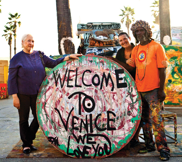 Carol Sobel on Venice Beach