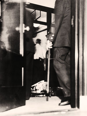 The body of Salvatore Maranzano, after Luciano sent assassins to  his office on the ninth floor of the New York Central Building, overlooking Grand Central Terminal.
